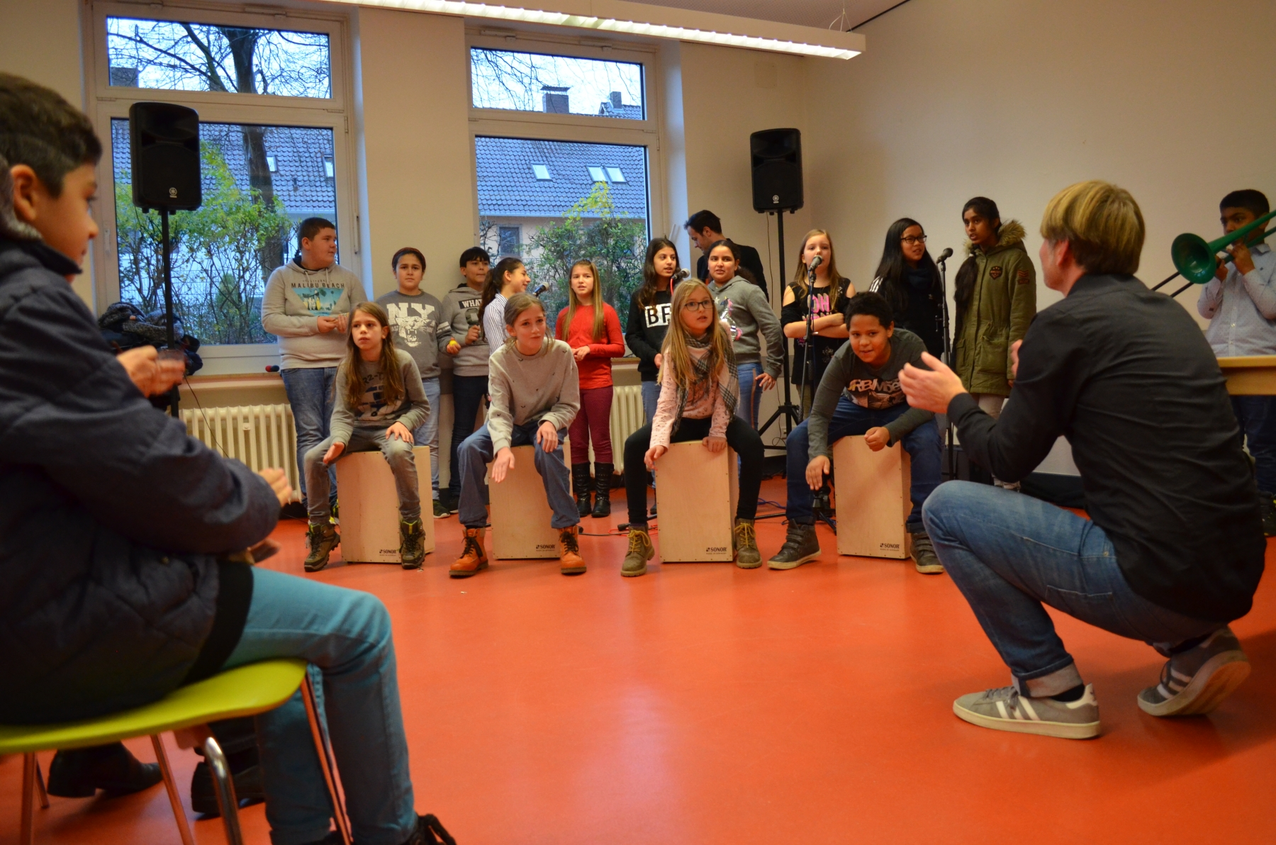 musikalische Begrüßung durch die Musikklasse